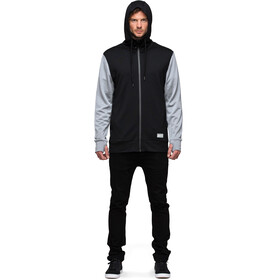 Mons Royale M's Mid Hit Hoody Black/Grey Marl